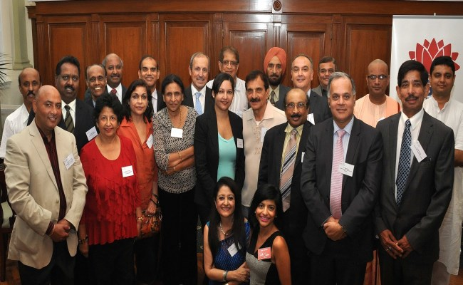 Attendees at the Indian community CRC consultation (left to right):  Vijay Halagali, Bhupinder Chhibber, Loggesan Pillay, George Varughese, Neera Srivastsava, Vish Viswanathan, Neena Sinha, Stanley D'Cruz, Shubha Kumar, Vic Alhadeff, Gambhir Watts Vic Alhadeff, Gambhir Watts, Pallavi Sinha, Mala Mehta, Dave Passi, Bawa Singh Jagdev, Sonia Gandhi, Dr K.C. Rajendran, Hakan Harman, Darshan Desai, Dr Yadu Singh, Swami Sunishthananda, Rohitas Bhatta, Pdt Jatin Bhatt Photo by Warren Duncan/CRC of NSW