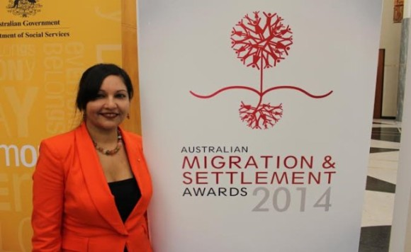 Pallavi shortlisted as a finalist in 'Diversity and the Law' at the Australian Migration  and Settlement Awards , 2014