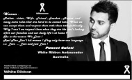 Puneet chosen as White Ribbon Ambassador