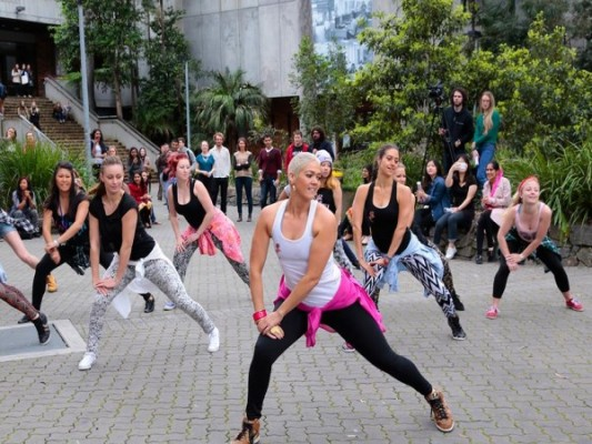 Multicultural flash mob strikes 'University of Newcastle'