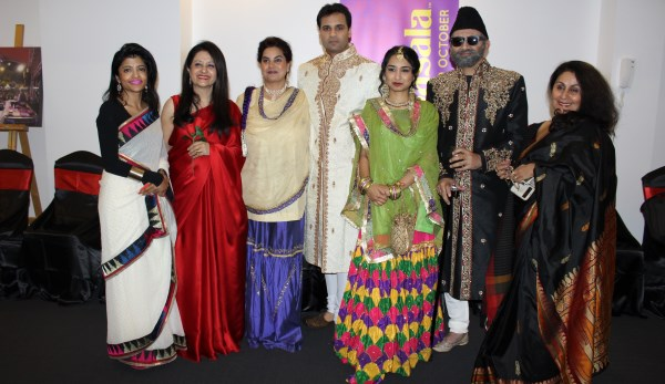 Team of theater play , 'Kanjoos' along with others at Parramasala 2014 launch