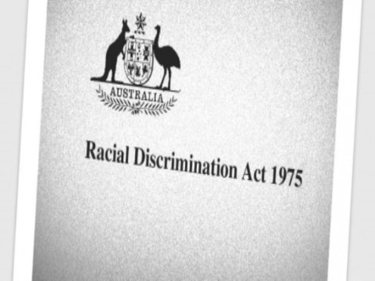 ' Abbott led government drops changes to the Racial Discrimination Act'