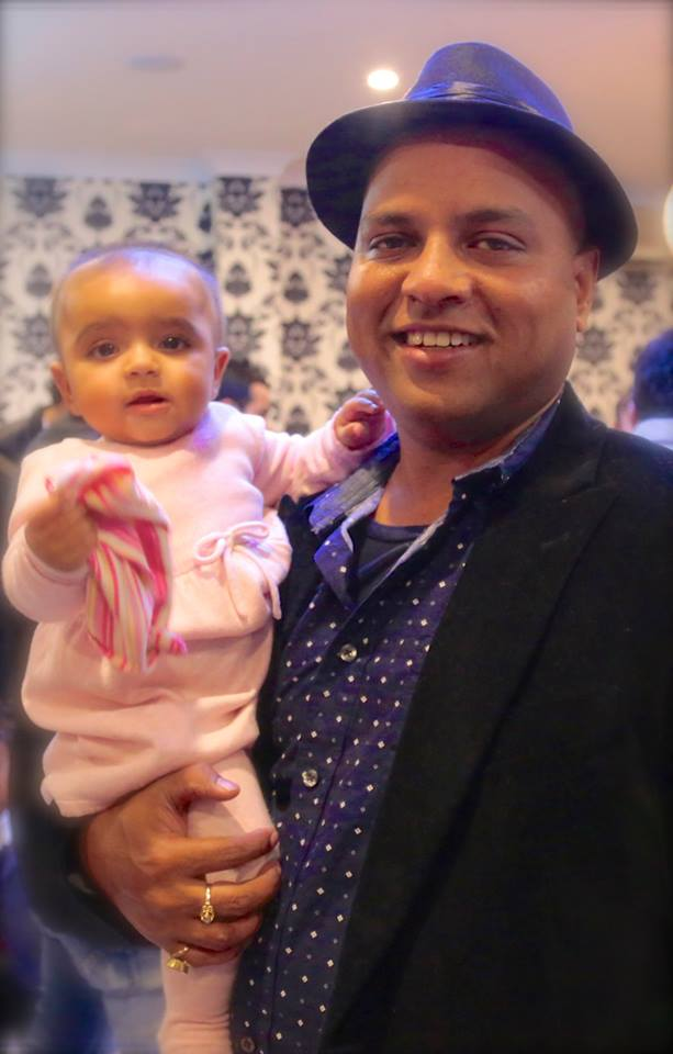 Vikrant Kishore with his daughter Pariza