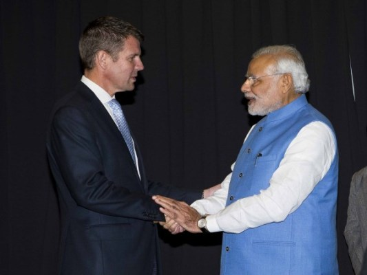 Premier meets Indian Prime Minister, Narendra Modi at community reception in Sydney