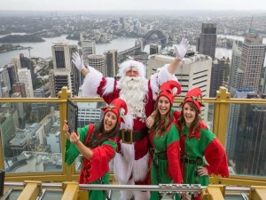 Skype on Skywalk , Sydney Tower Eye