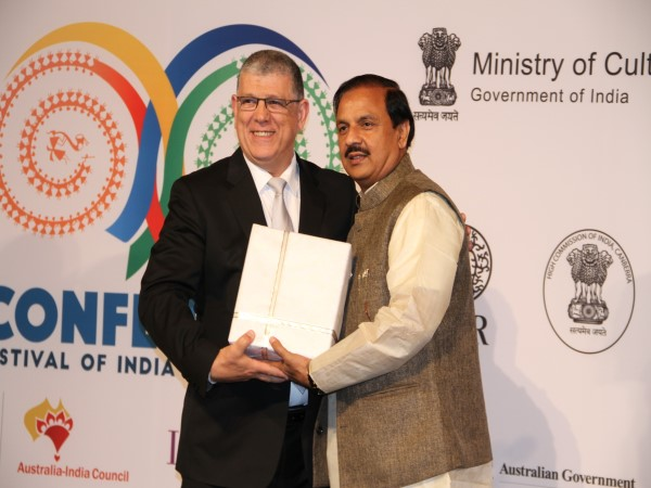 Dr. Mahesh Sharma, Minister of Tourism Culture India and and John Ajaka MP Minister for Ageing, Minister for Disability Services Australia