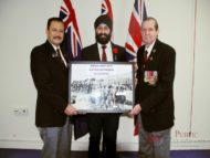 RSL Blacktown war memorial puts up photograph of Indian army
