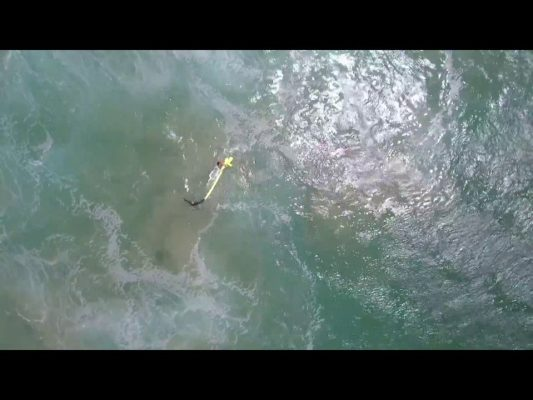 Drones used to save teenage swimmers